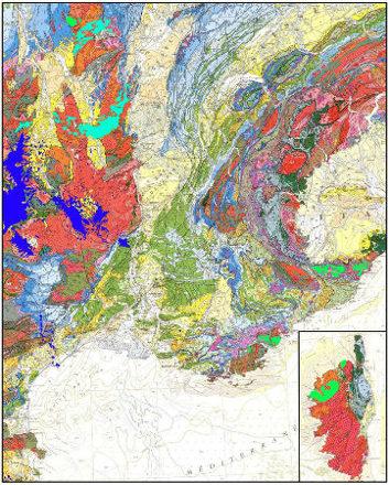 Représentations schématiques idéalisées et simplifiées d'une chaine théorique, sans doute pas trop différente de ce qu'était la chaine hercynienne au Paléozoïque supérieur en particulier au Carbonifère terminal/Permien (schéma 2) lors du volcanisme rhyolitique, conséquence de la délamination lithosphérique