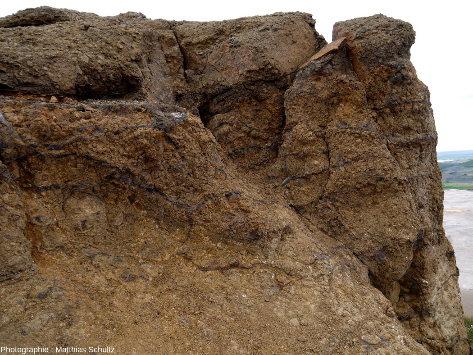 Détail des roches de la crête Námafjall (Islande)