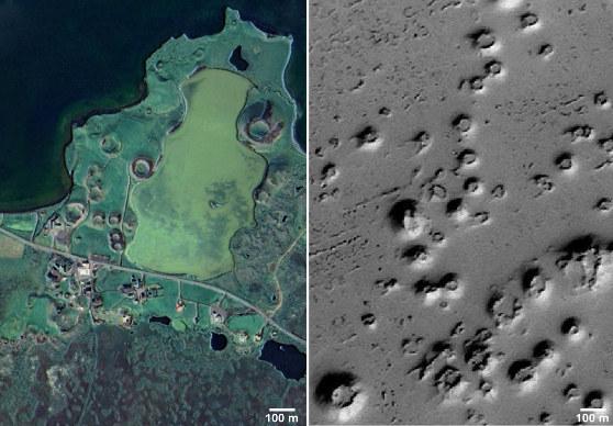 Comparaison entre les pseudocratères de la région de Myvatn (Islande) et leurs équivalents martiens