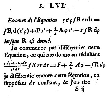 La Figure la Terre de Clairaut, début de calcul de différenciation