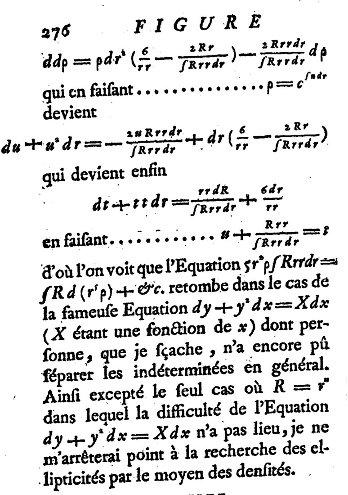 La Figure la Terre de Clairaut, équation différentielle de Clairaut