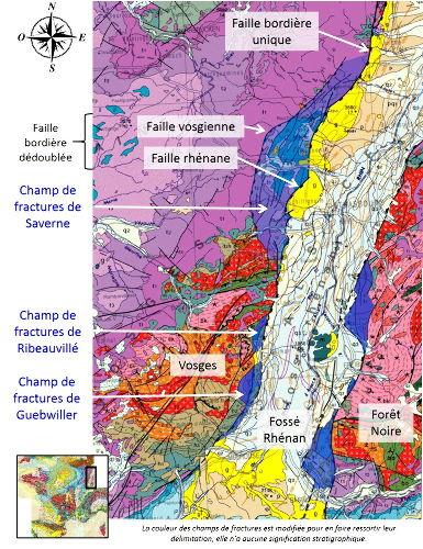 Extrait de la carte géologique de la France au millionième