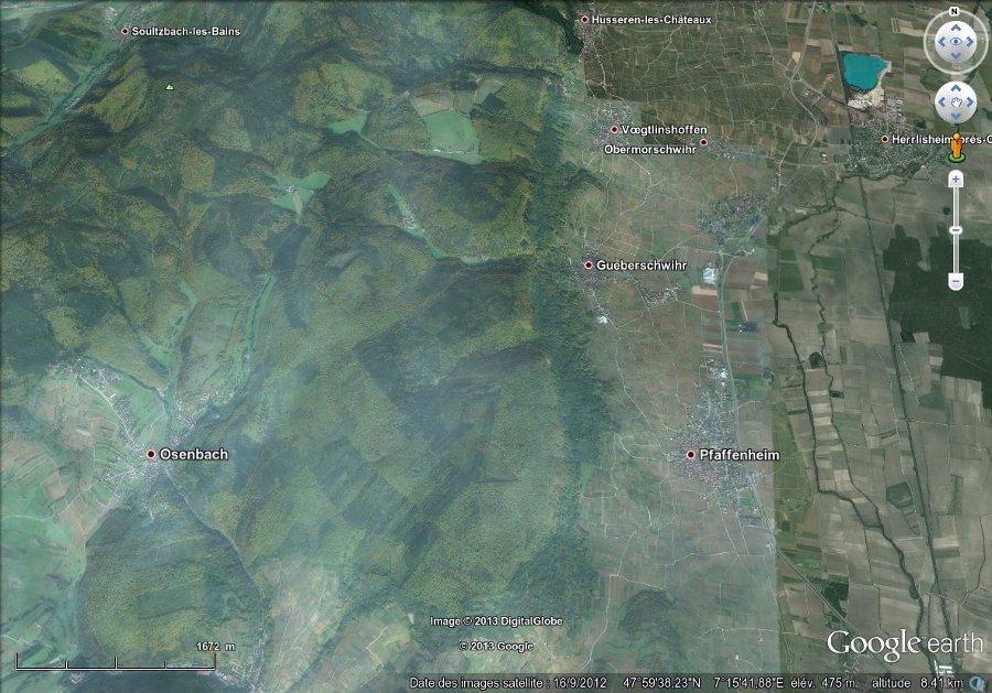 Région de Gueberschwihr, image 3D (vue basculée)