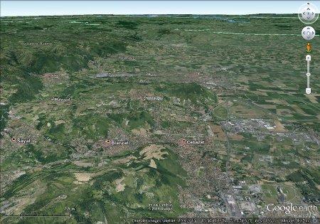 Région de Chateaugay, image 3D (vue basculée)