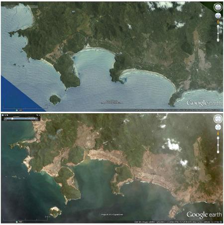 Côte Nord-Ouest de l'île de Sumatra, baie de Lho Blangraya