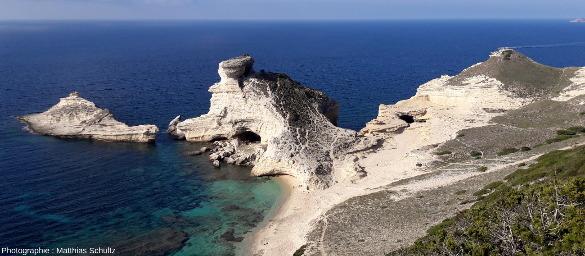Détail du cap Pertusato, pointe Sud de l'ile principale de Corse, au Sud-Est de Bonifacio