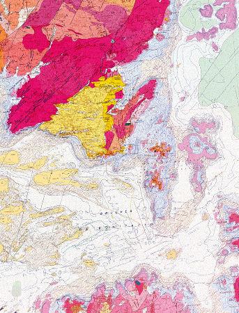 Les bouches de Bonifacio sur la carte géologique de Corse au 1/50000 (carte récente, 2011, à la notice très détaillée)