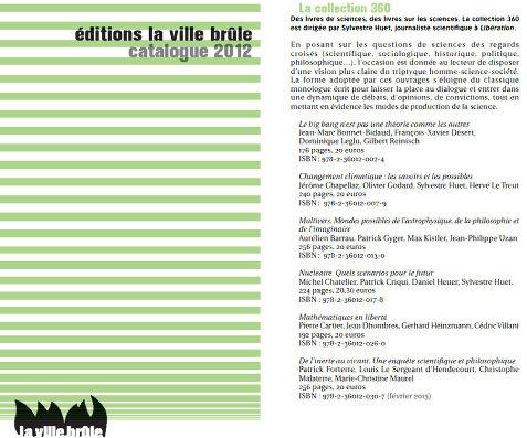 Extrait du catalogue de la maison d'édition La Ville brûle