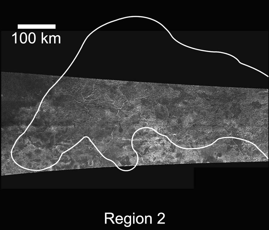 Image radar de la région 2, Titan