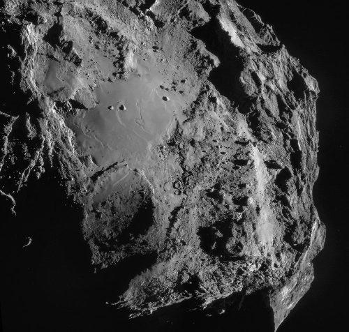Vue générale de la plaine lisse Imhotep, plaine mesurant environ 1km dans sa plus grande dimension