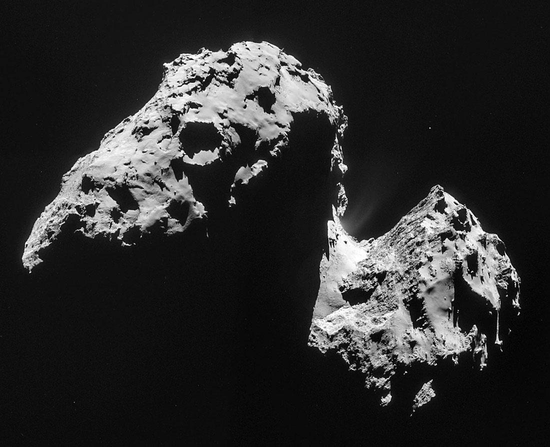 Images prises le 17 novembre 2014 d'une distance de 42km du centre de la comète 67P/CG