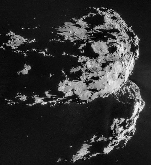 Images prises le 1er décembre 2014 d'une distance de 30,1km du centre de la comète Chury