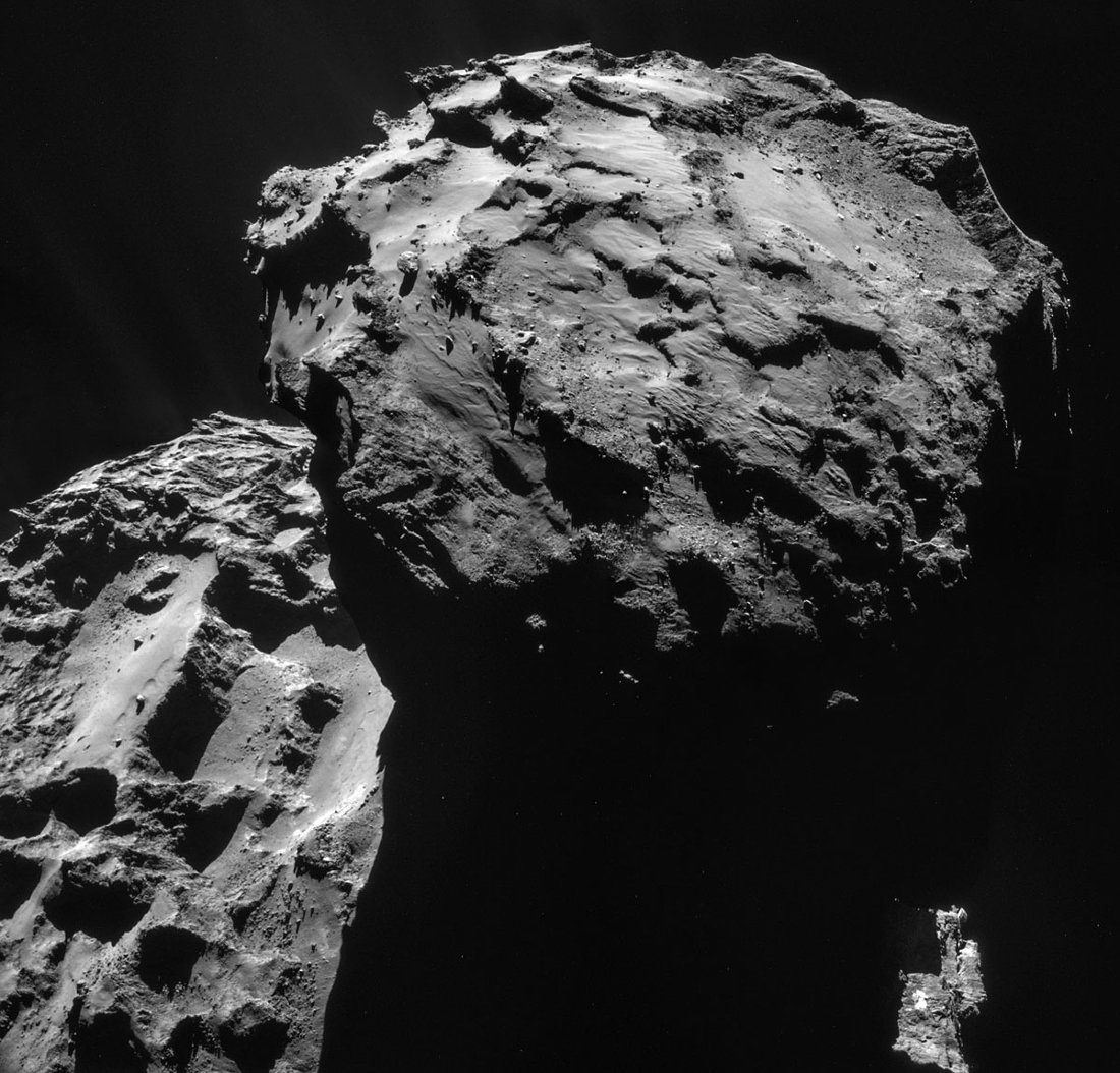 Images prises le 7 décembre 2014 d'une distance de 19,7km du centre de la comète 67P/CG