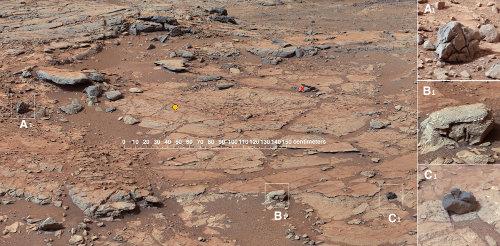 Secteur, nommé John Klein, prévu pour le premier forage de Curiosity
