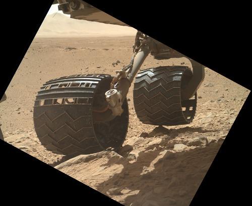 """Pas étonnant que les roues soient """"fatiguées"""" vu la nature très caillouteuse du trajet!"""