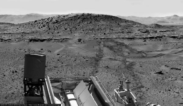 Le site de forage de Windjana, au pied du Mont Remarkable (sol 630, 15 mai 2014)