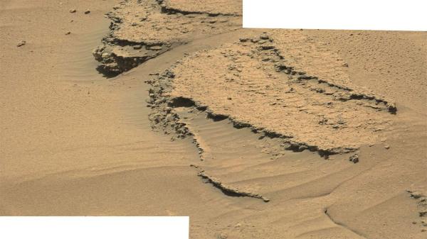 Détail sur des couches constitutives du relief sans nom, près du Mont Remarkable