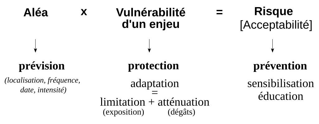 Récapitulatif des principaux termes liés à la notion de risque