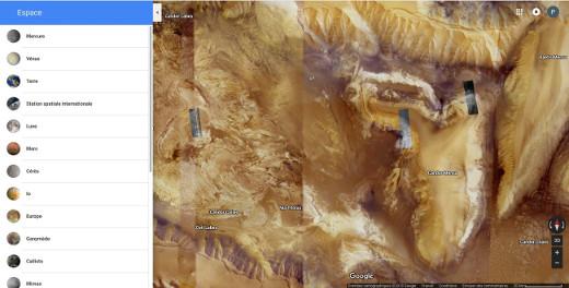 Vue de Candor Chasma sur Mars