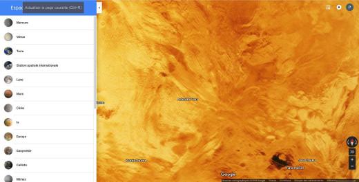 Vue d'Aphrodite Terra sur Vénus