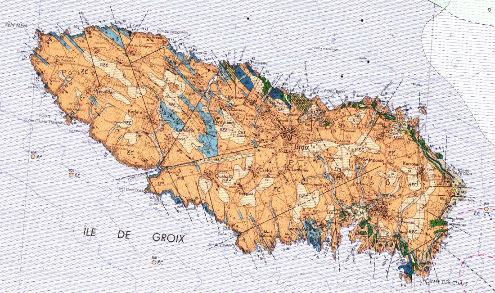 Carte géologique de l'ile de Groix