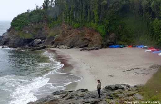 La plage des Sables Rouges, au Sud de la plage des Grands Sables, ile de Groix