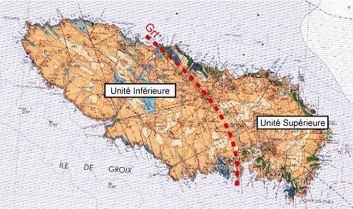 Unités géologiques de l'ile de Groix