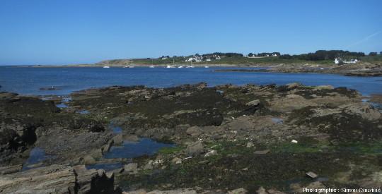 Vue vers l'Ouest de la Pointe des Chats, ile de Groix