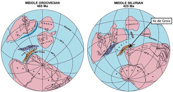 Paléogéographie des domaines océaniques et continentaux impliqués dans la formation de la chaine varisque
