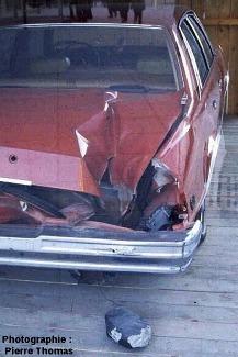 La voiture de Miss Michelle Knapp, Peekskill, état de New-York, USA