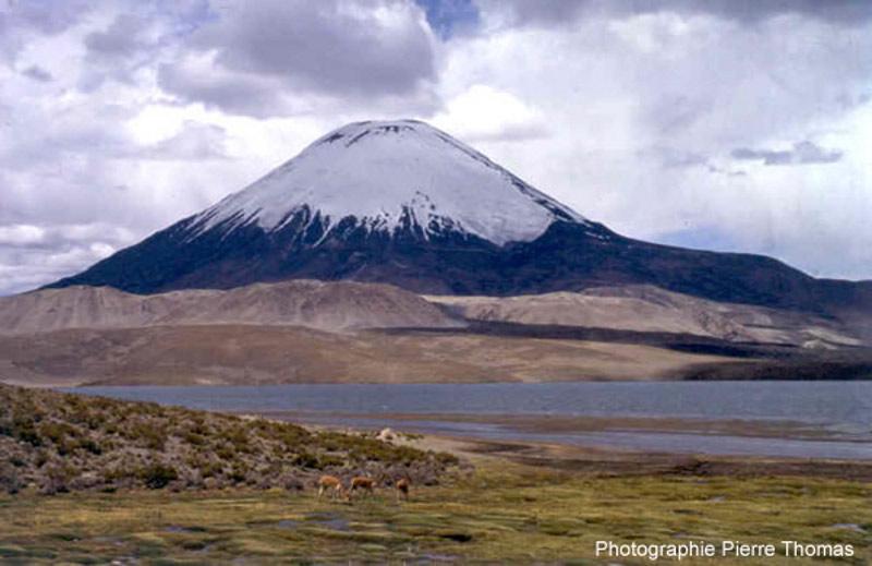Le volcan Parinacota au Chili