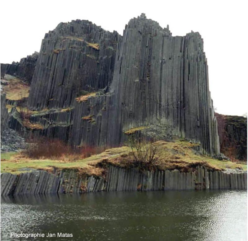 Orgues basaltiques à Panska Skala (100km au Nord de Prague, République Tchèque)