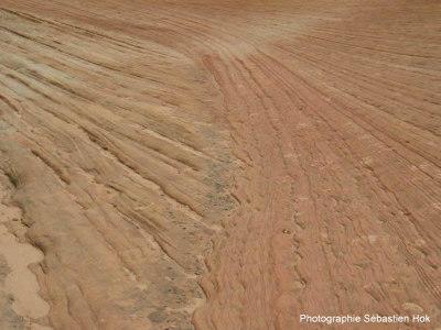 Photographie d'une mini-discordance dans le Canyon Zion, Utah (USA)