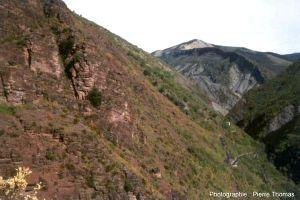 Vue d'ensemble de la limite Permo-Trias dans le paysage