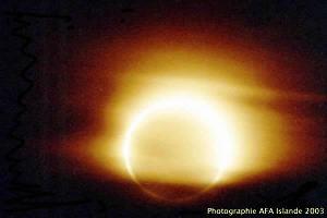 Phase d'annularité de l'éclipse de Soleil