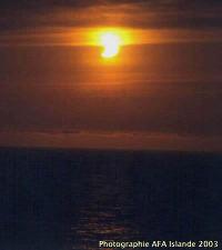 Début d'une éclipse annulaire de Soleil