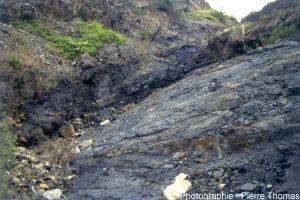 Cadre géologique : mur d'une couche de charbon, bassin de Graissessac (34)