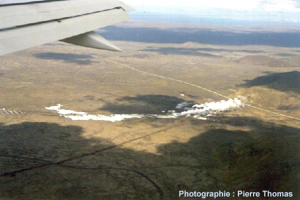 Vue aérienne du site du Lagon Bleu