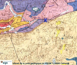 Situation géologique de la source de la Sorgues