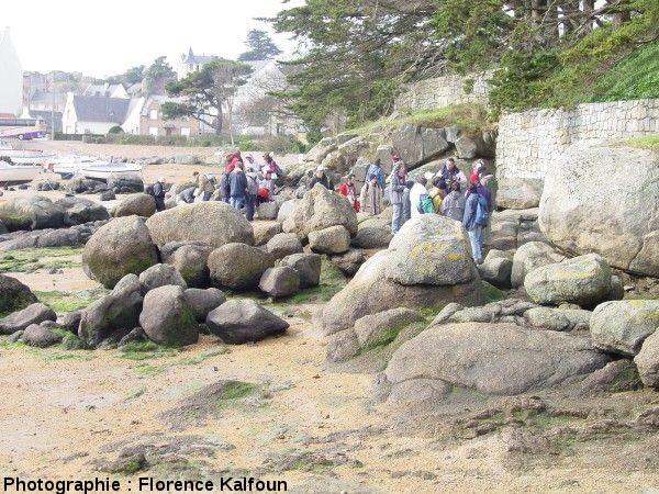 Vue générale du chaos granitique de la plage de l'anse Sainte Anne