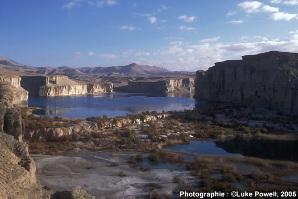 Deux lacs de Band-i-Amir (Province de Bamiyan, Afghanistan)