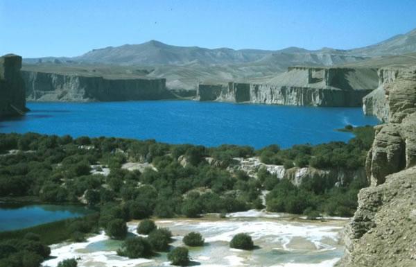 Un lac de Band-i-Amir (Province de Bamiyan, Afghanistan)