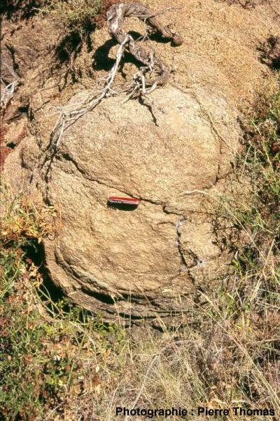 Structure en pelure d'oignon dans le granite du Quérigut (66)