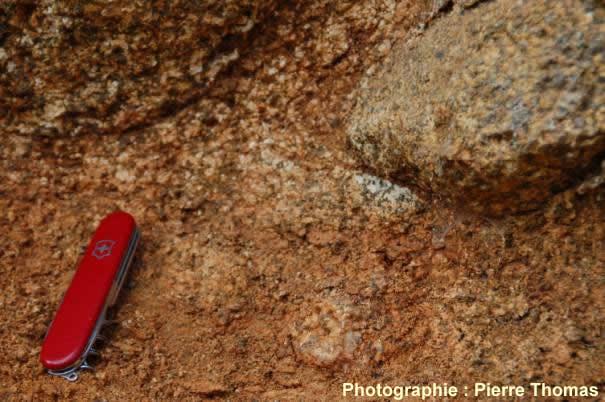 Granitoïde en voie d'arénisation