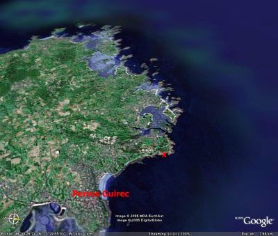 Localisation (croix rouge) du site de la photo 4