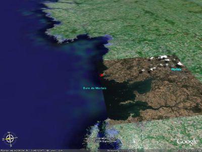 Vue de la baie de Morlaix (résolution normale)