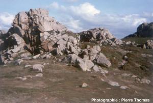 Vue d'ensemble de l'affleurement de granite de la figure 1