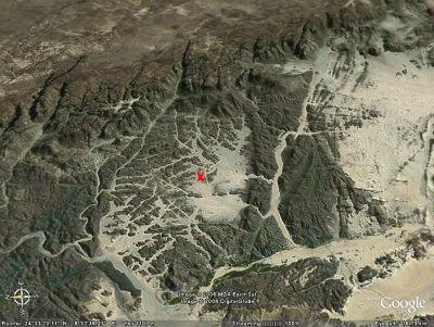 Localisation des granites du Tassili (Sahara algérien)