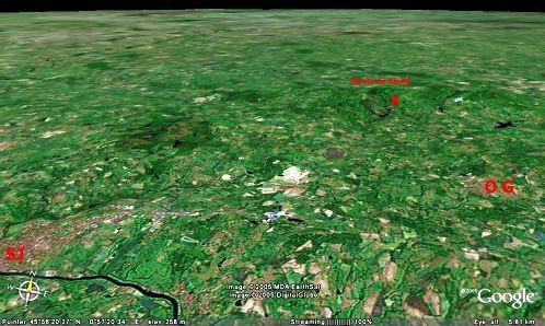 Localisation de la Pierre Branlante de Cieux (87)