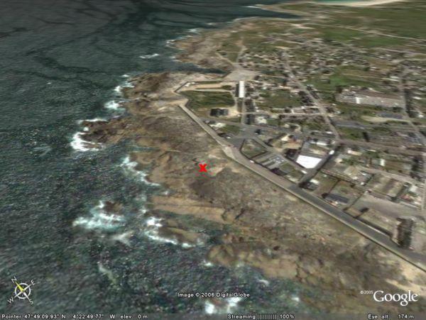 Localisation des rochers de St Guénolé (29)